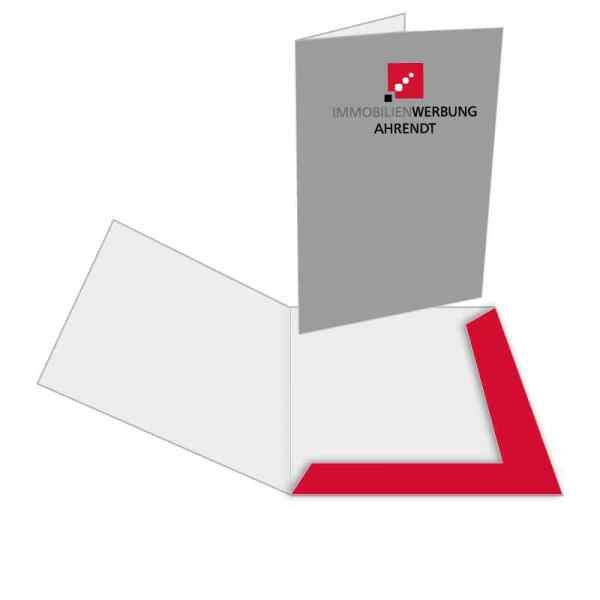 Präsentationsmappen DIN A4 Außenseite bedruckt