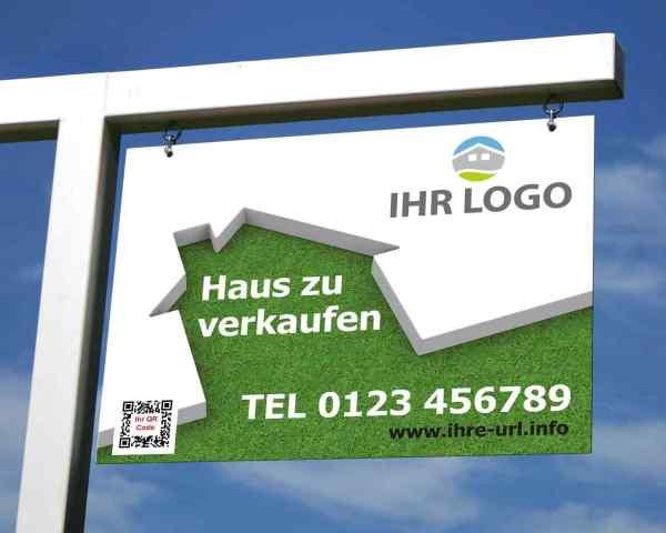 Werbeschilder für Maklergalgen