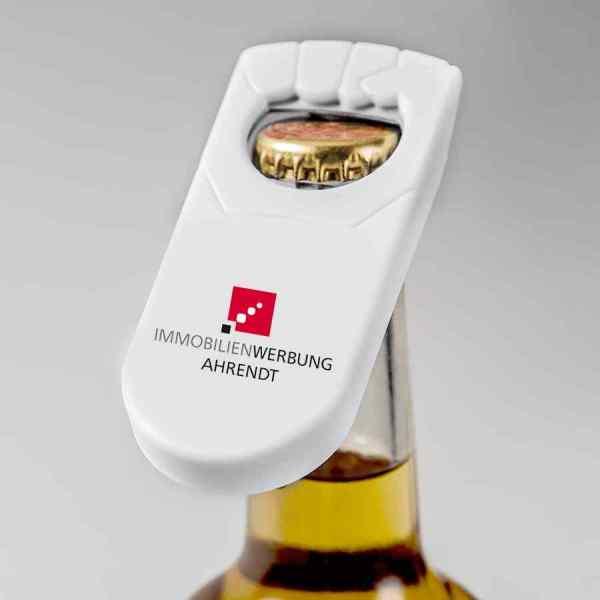 Handlicher Flaschenöffner (mehrfarbig 4c)